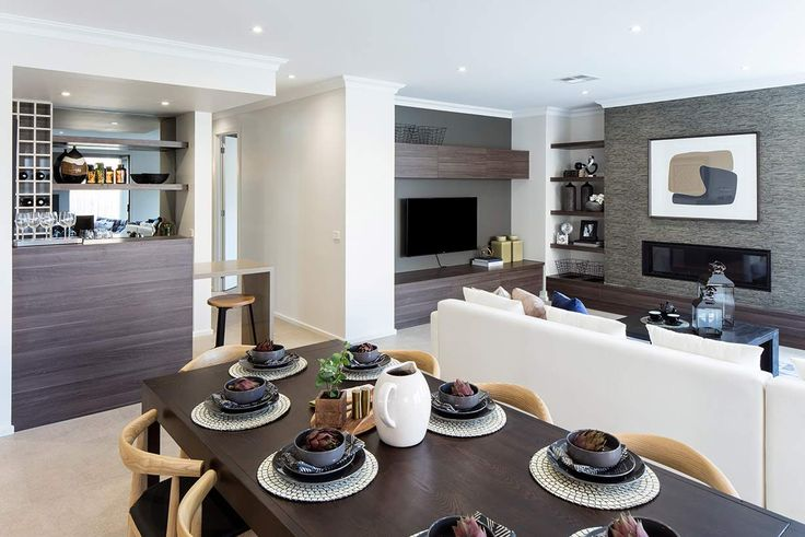 Sophisticated dining is at its best in this stylish area. #weeksbuildinggroup #homedesign #interiordesign #newhome