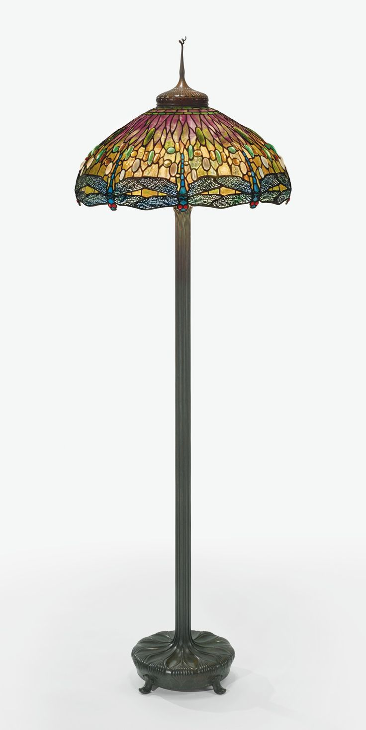 1000 images about tiffany studios on pinterest auction for Tiffany style vase floor lamp