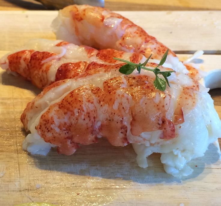 [Homemade] Sous Vide Butter Poached Lobster Tail with Lemon Thyme