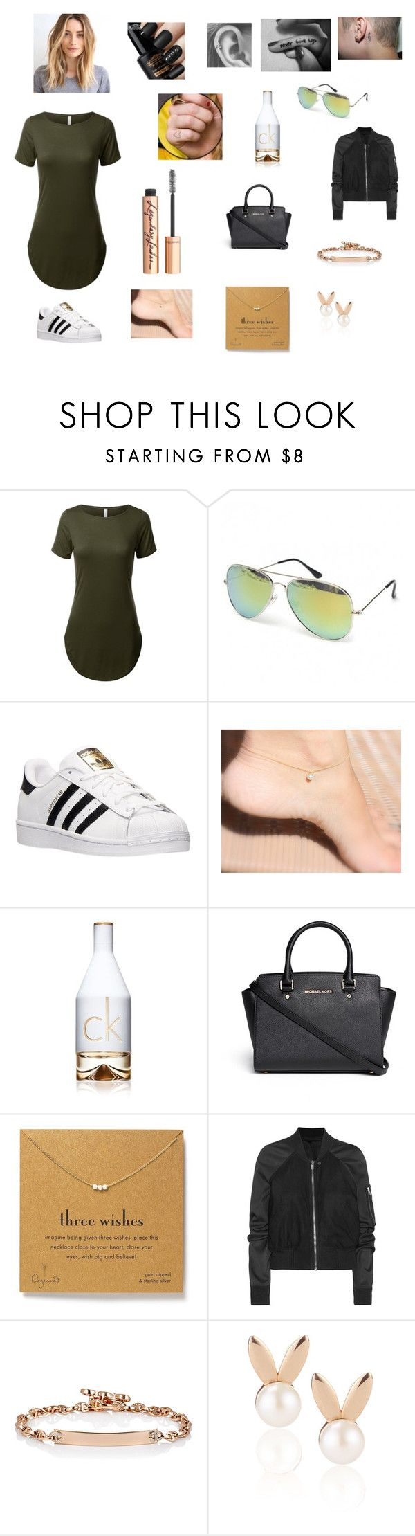 Untitled #223 by katrine-frid on Polyvore featuring Rick Owens, adidas, Michael Kors, Dogeared, Hoorsenbuhs, Aamaya by priyanka, Charlotte Tilbury and Calvin Klein