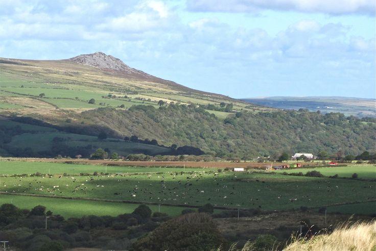 Carningli seen from the Gelli Fawr road -- Cwm Gwaun in the middle distance