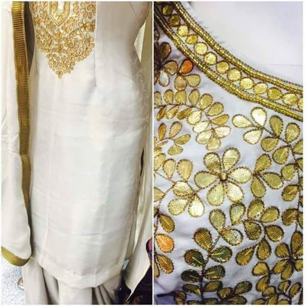 Beautifull gotta patti Suit, @nivetas you can get this made in your desired color, for any purchase query whatsapp +917696747289 visit us at https://www.facebook.com/punjabisboutique We deliver Internationally nivetasfashion@gmail.com