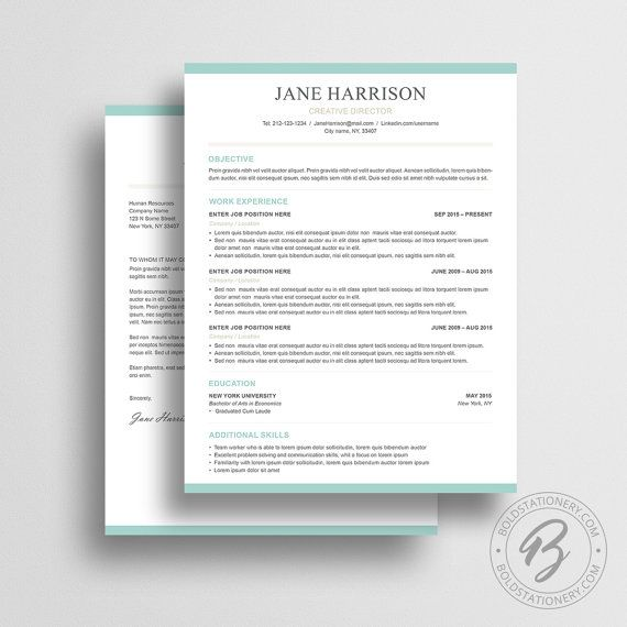 Creative Recruiter Resume Design Templates Iwork Pages