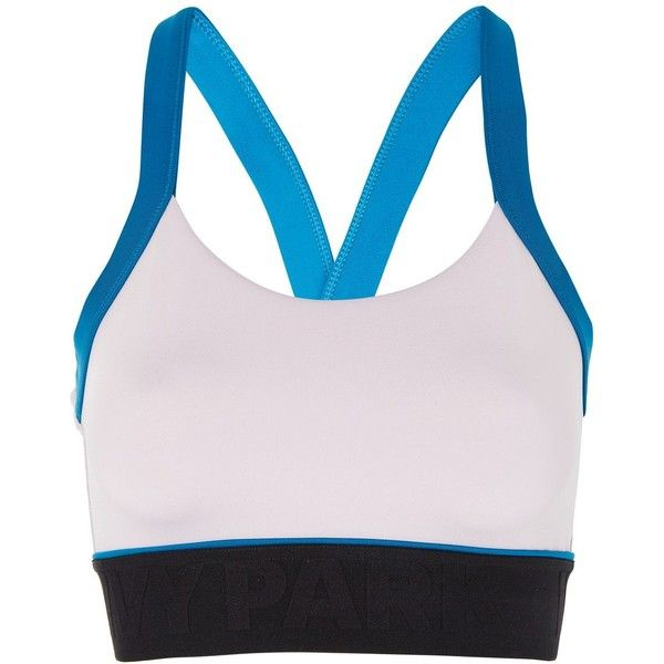 Colour Block Cross Back Bra by Ivy Park ($45) ❤ liked on Polyvore featuring activewear, sports bras, topshop, multi, open back sports bra, pink sports bra, logo sportswear, criss cross back sports bra and strappy sports bra