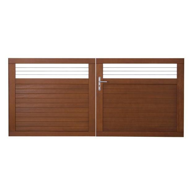 portail battant bois fontaine gamme confort lapeyre maison travaux pinterest lapeyre. Black Bedroom Furniture Sets. Home Design Ideas