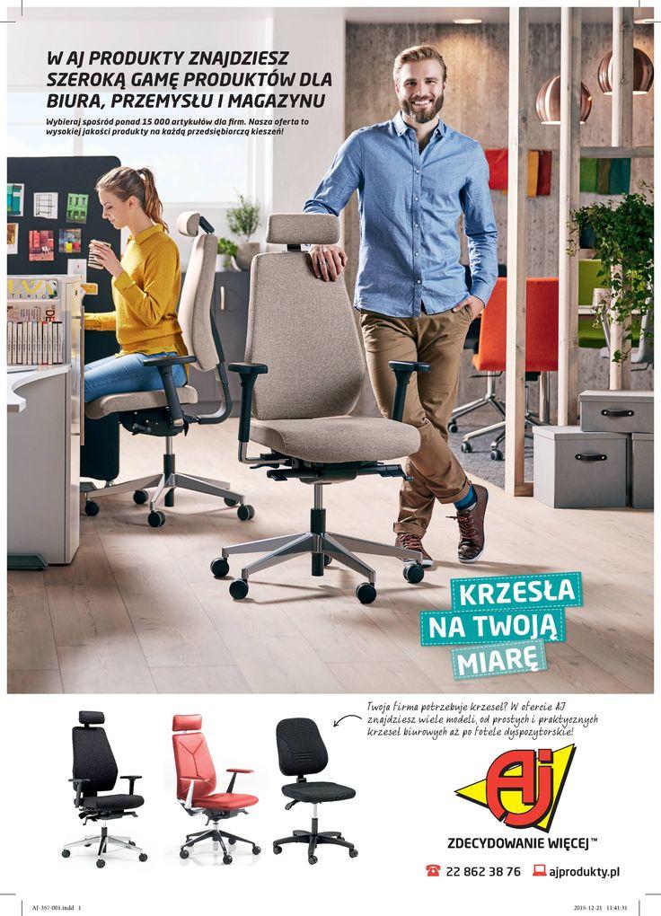 Różnego rodzaju krzesła biurowe dostępne w ofercie AJ Produkty. Krzesła mają regulację wysokości oraz kółka do łatwego przemieszczania. Odwiedzić: http://www.ajprodukty.pl/meble-biurowe/krzesla-biurowe/6205400.wf