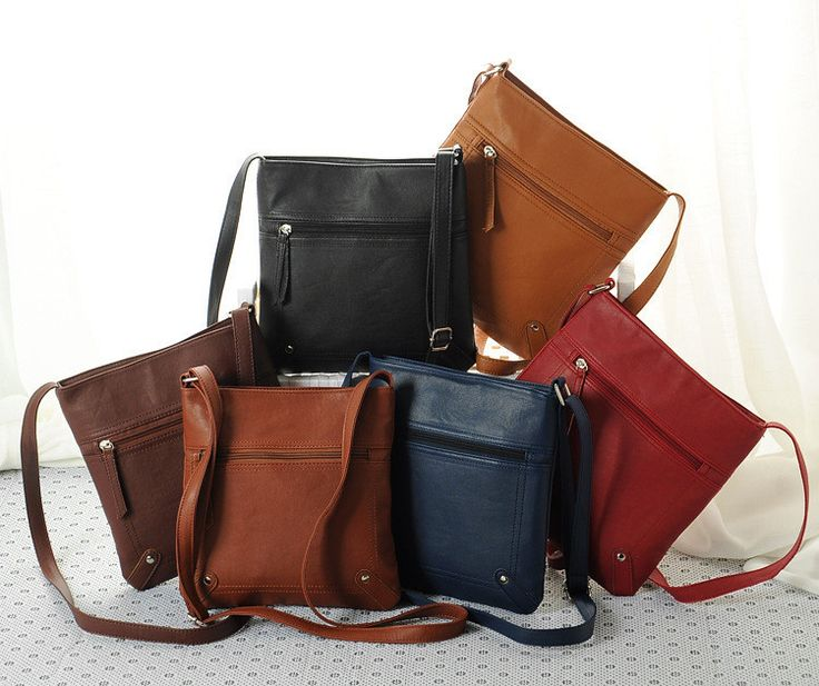 Leather #CrossBag in 6 Beautiful Colors