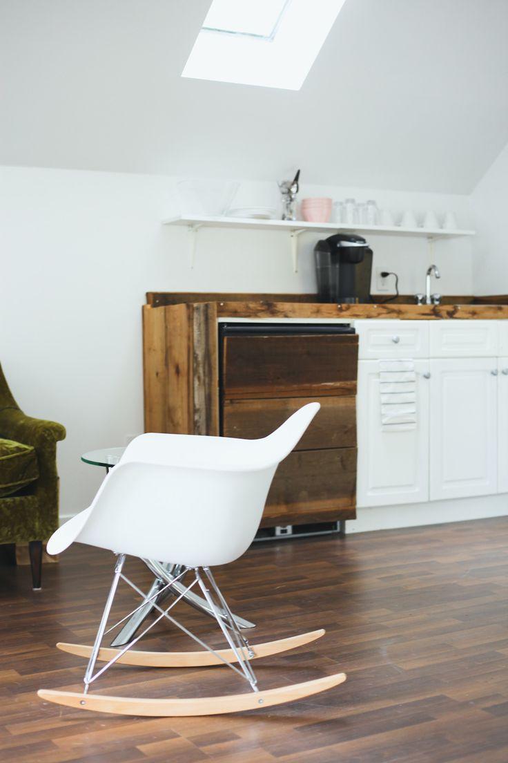 Raw wood & eames rocking chair