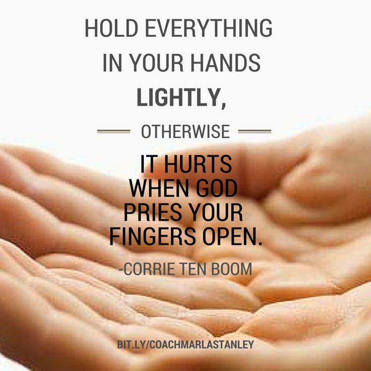 corrie ten boom quotes on prayer | How do you remind yourself to hold loosely to…