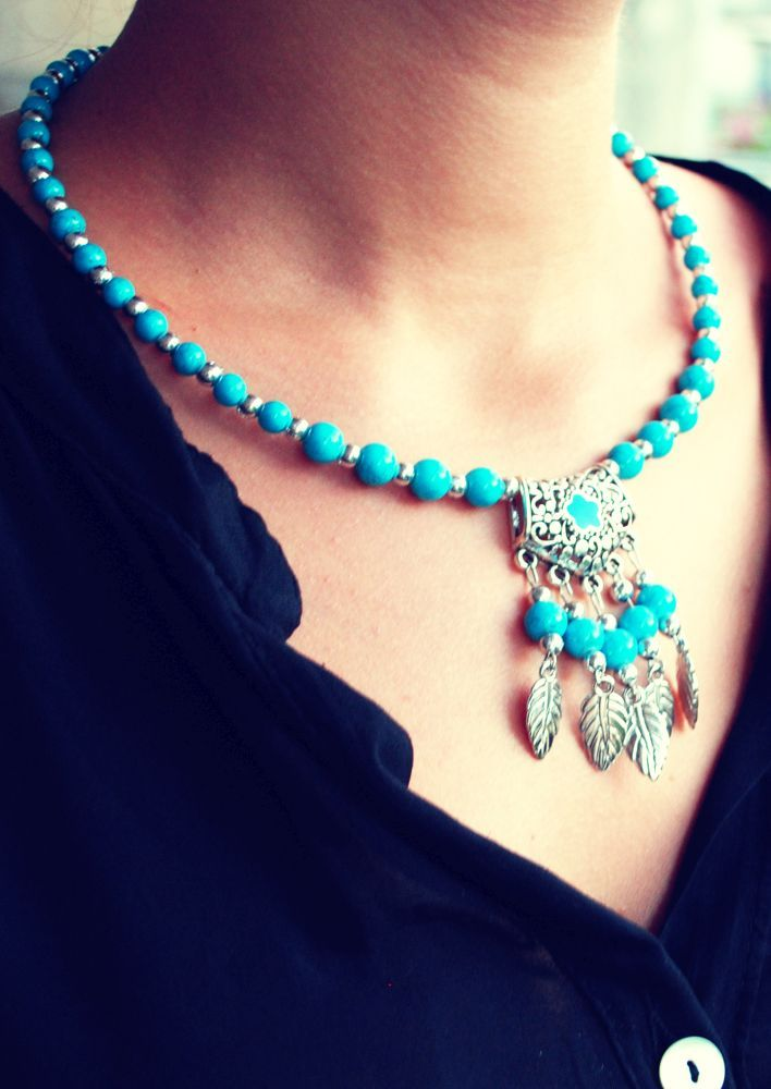 Boho Love Blue Necklace-