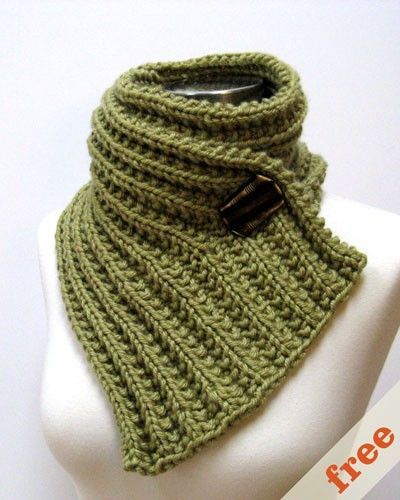 Free Knitting Patterns Cowls With Buttons : Fear of Commitment Scarf Free Knitting Patterns Pinterest