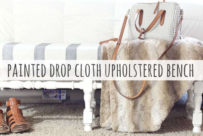 Drop cloth fabric is cheap, durable and perfectly rustic. Learn how to paint drop cloth fabric and use it for curtains, pillows and simple upholstery.