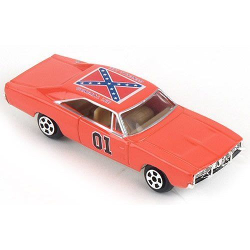 "Dukes of Hazard General Lee Charger Toy Car by ERTL Toys. $14.96. 3 Inch Dukes Of Hazzard General Lee. Licensed and Authorized. 1.5"" x 3.5"" x 1.0"". Die-cast and Collectible. For ages 8+. 3""L x 1""W x 3/4""H."