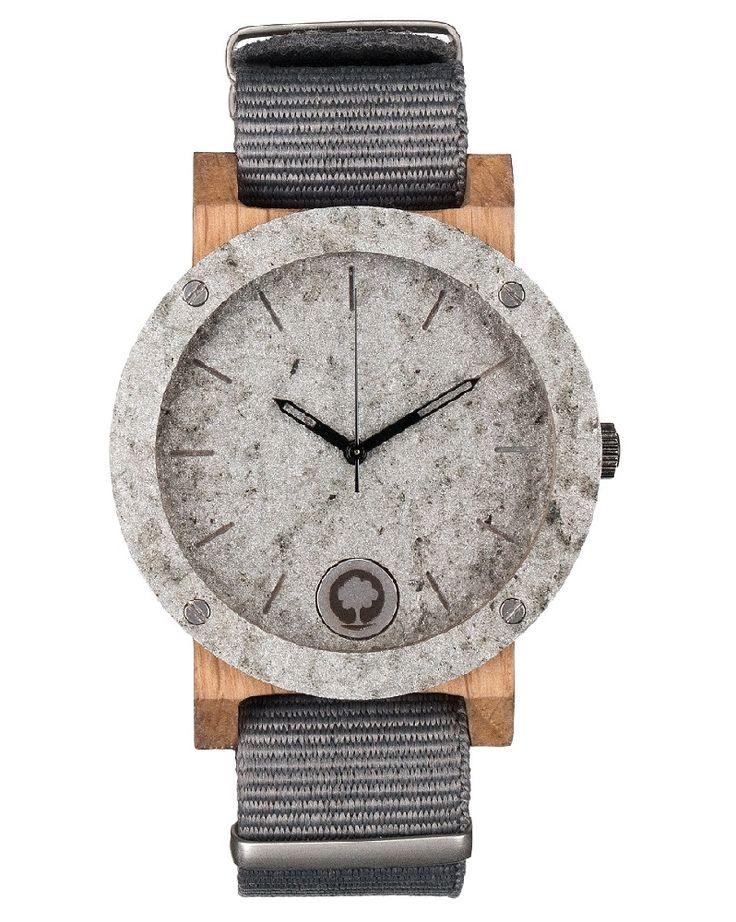 Drewniany zegarek - Seria Raw - Double Stone - Plantwear Polska