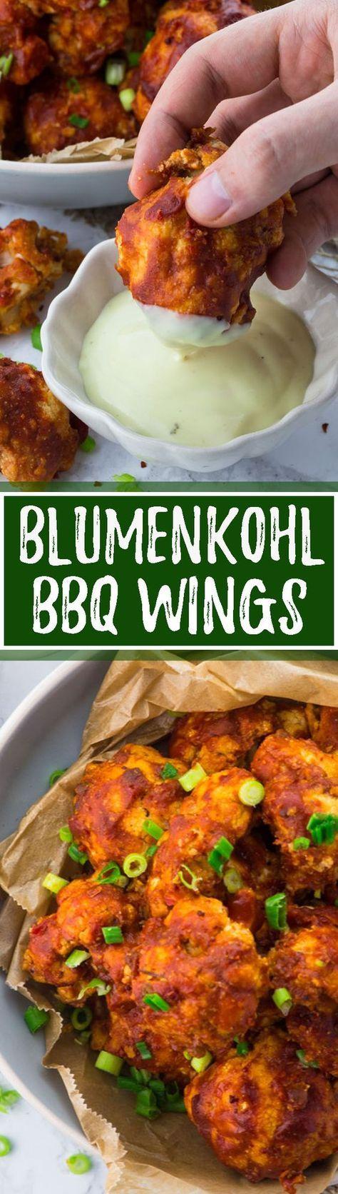Blumenkohl bbq wings