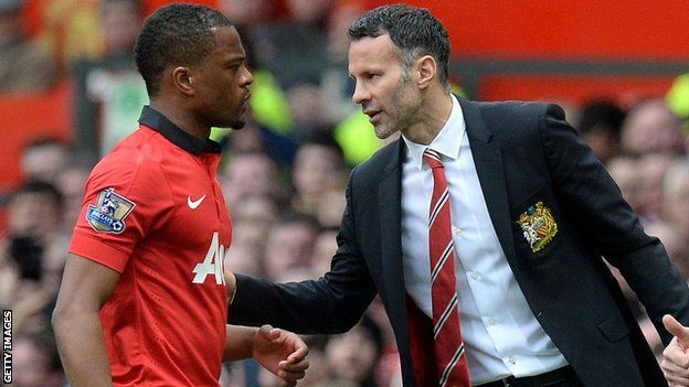 Patrice Evra and Ryan Giggs