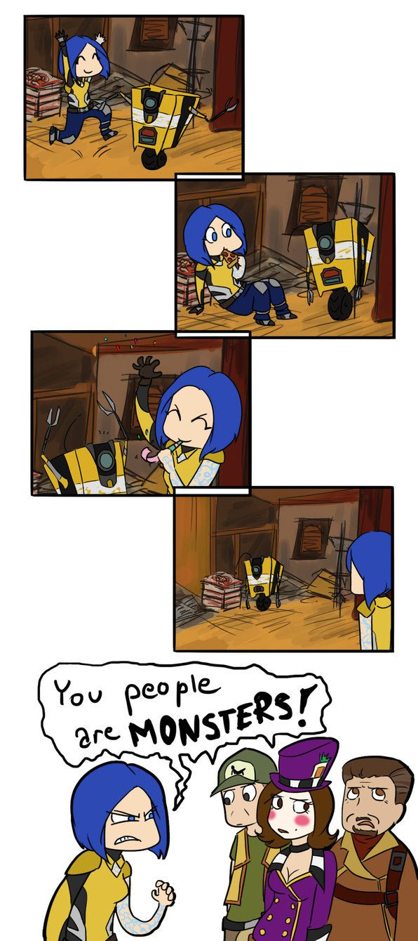 This is me. I must protect my smol robot child XD  Claptrap's birthday by ammy275.deviantart.com on @DeviantArt
