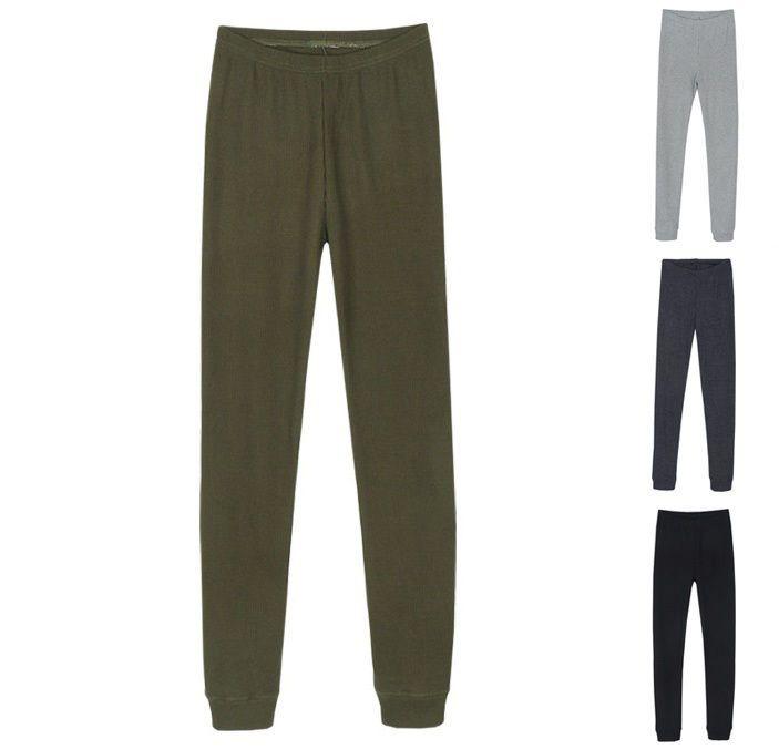 Damen Mode Stricken Waffel Leggings Baumwolle Capri Strumpfhose Warm Lässig Neu