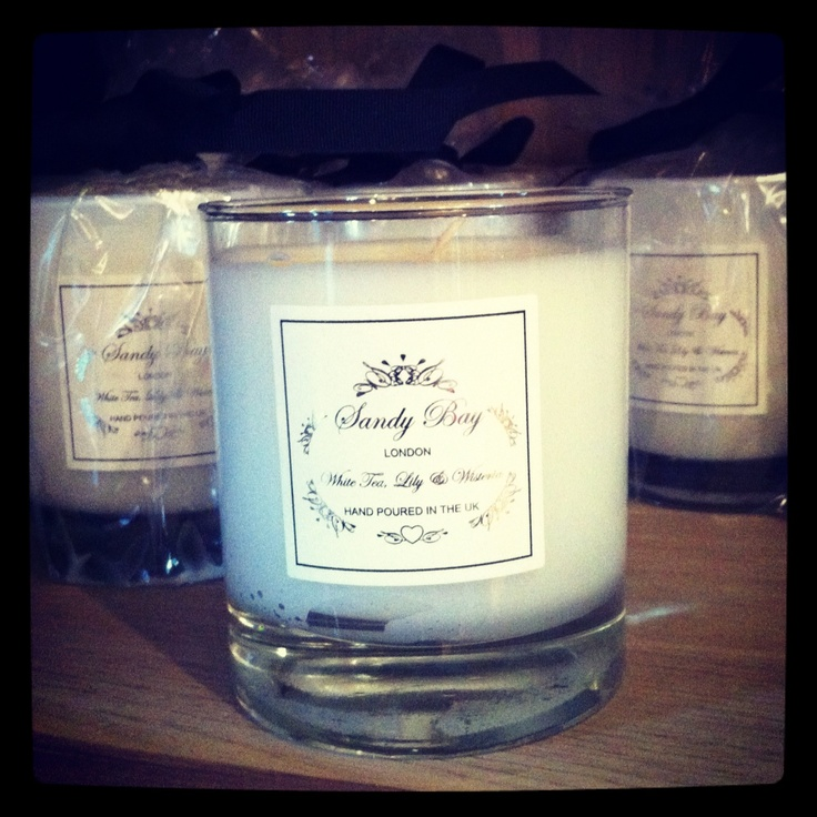 The new Sandy Bay candle from The Orangery House. Available at only £23.50. White Tea Lily & Wisteria