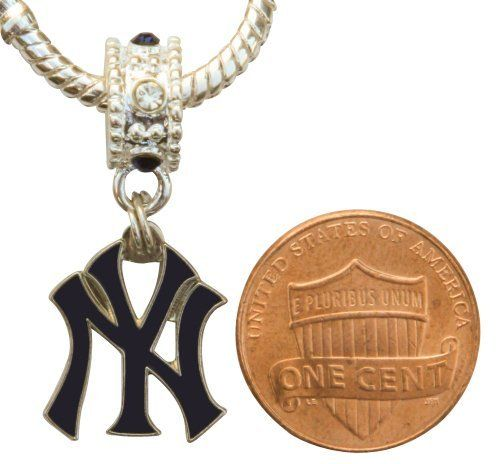 New York Yankees Charm With Connector Will Fit Pandora