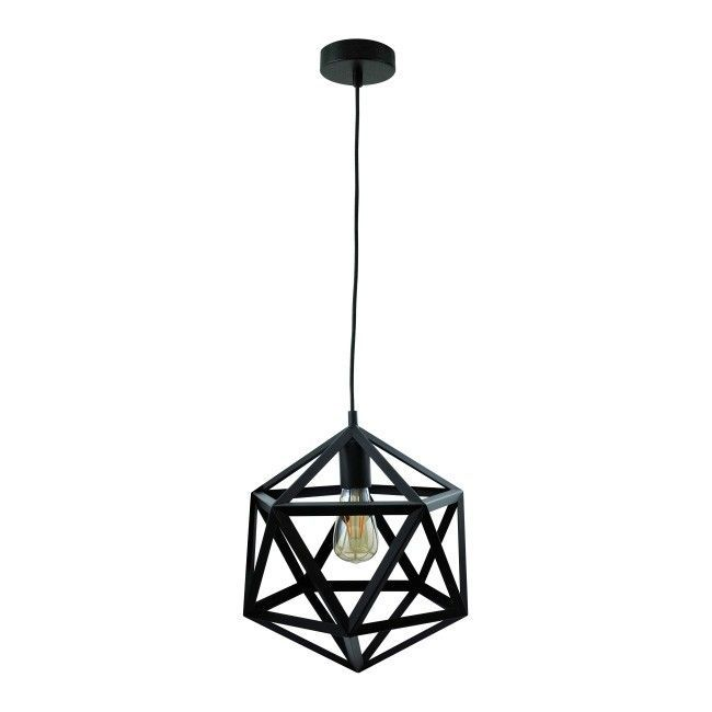 Lampa Wisząca Denmark 1 X 20 W E27 Czarna Lampa Lamp