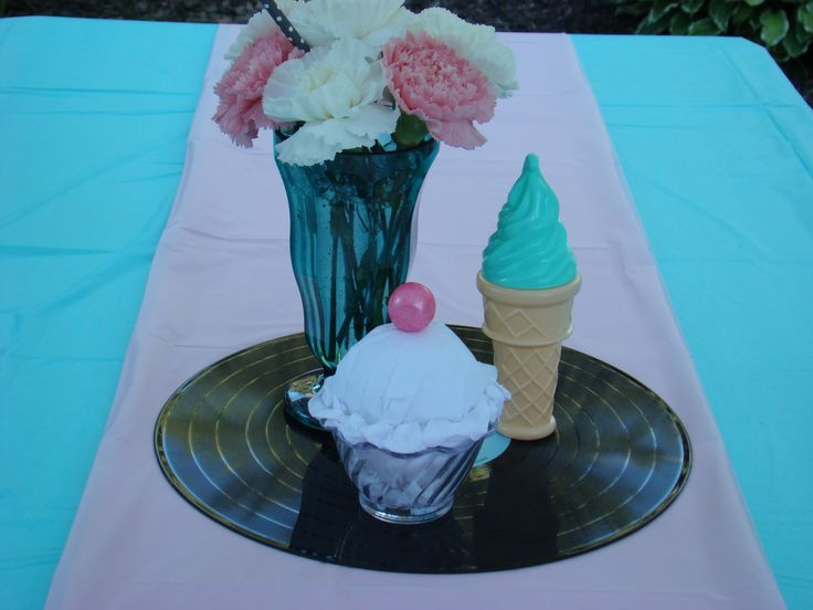 50u0027s Party   Table Centerpieces. Party Table CenterpiecesParty TablesSock  Hop ...
