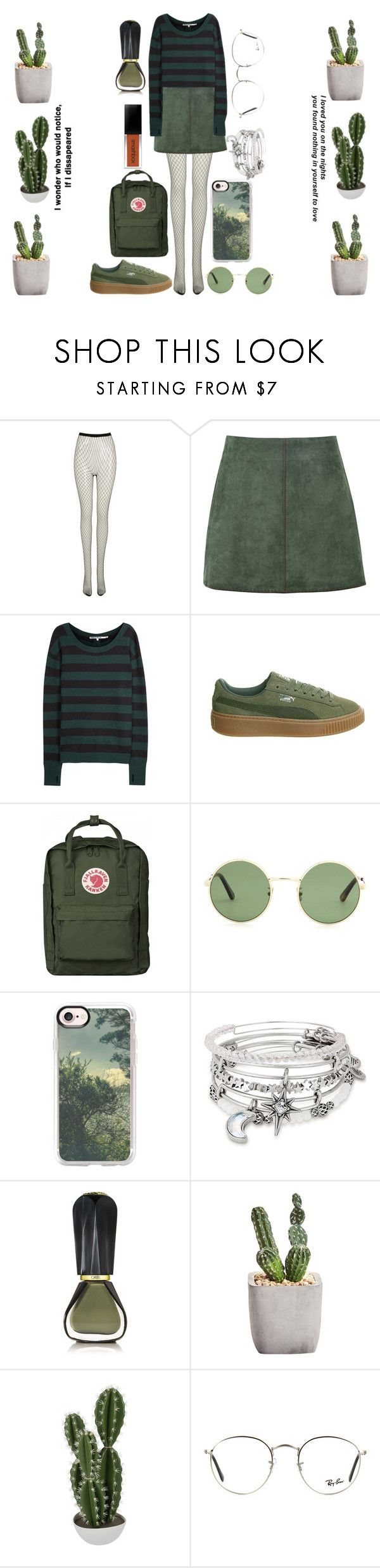 """""""G R E E N"""" by nikkyvanderoer ❤ liked on Polyvore featuring Frontrow Limited, George J. Love, Pam & Gela, Puma, Thread, Yves Saint Laurent, Casetify, Alex and Ani, Oribe and Abigail Ahern"""