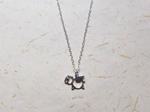 FREE SHIPPING Sterling silver 925 Flying Pig charm Necklace  by OakbyLF