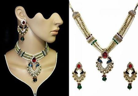 Wow! Beautiful Meenakari & kundan sets Price -- 6500 /-- $ 110 usd dollars Delivery -- free all over For Order -- +91-9815483945 ( for whatsapp also ..  https://www.facebook.com/pages/Punjabi-Designer-Boutique-Mohali/474960619263704