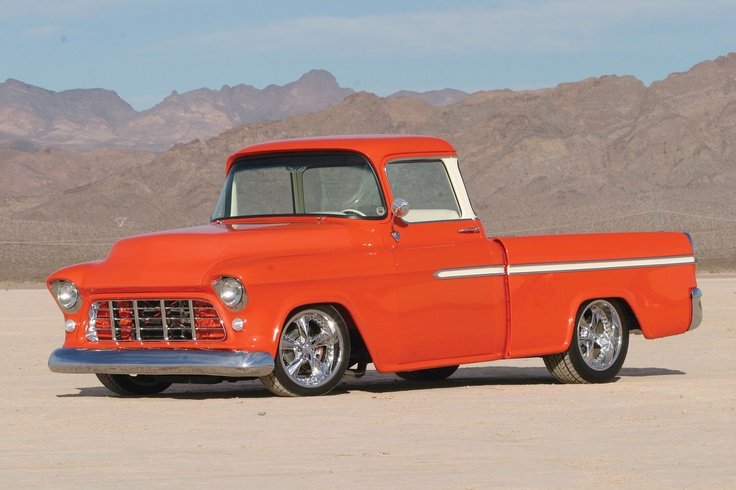 1955 chevy cameo with a corvette engine yeah antique for Chevy truck with corvette motor