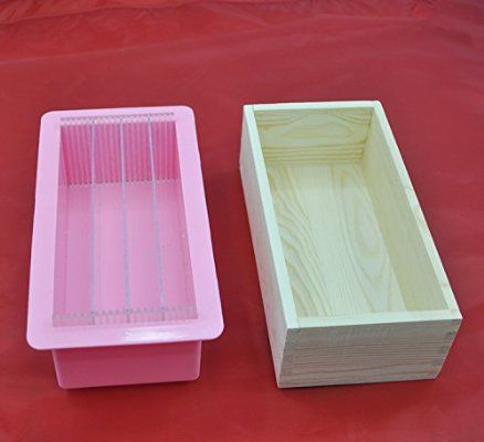 3in1 Rectangle Silicone Soap Mold Wooden Box Vertical Acrylic Rendering Separator 1000ml