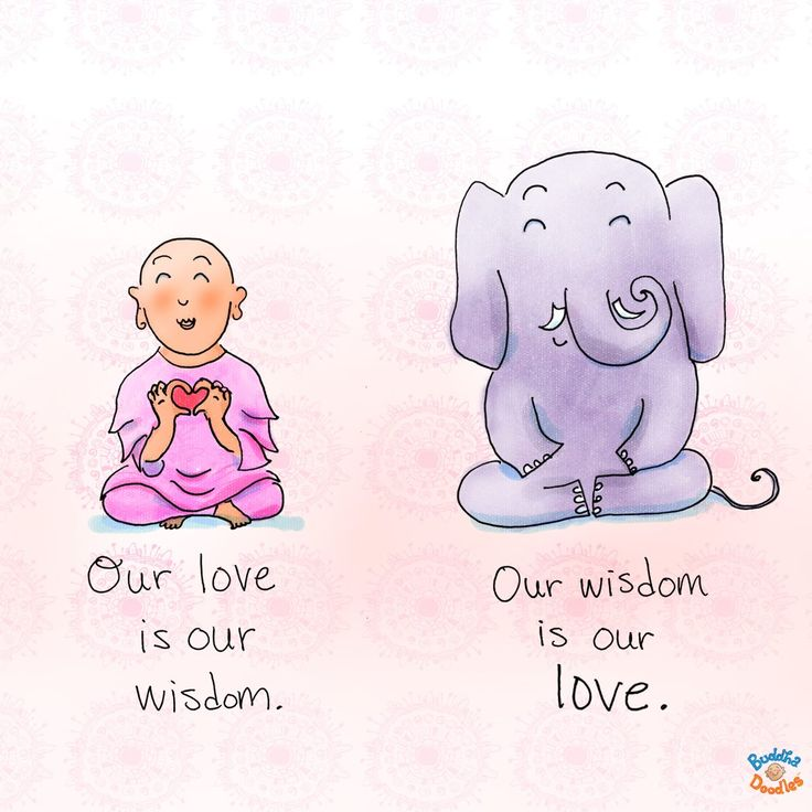 Today's Buddha Doodle: the mother within