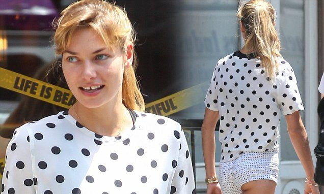 Jessica Hart stops traffic in a pair of micro mini shorts