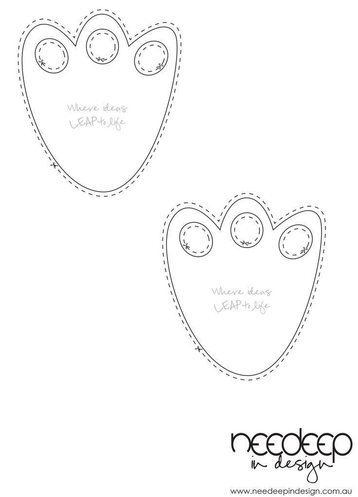 bunny feet template printable - easter bunny footprint small x 2 to cut colour or use