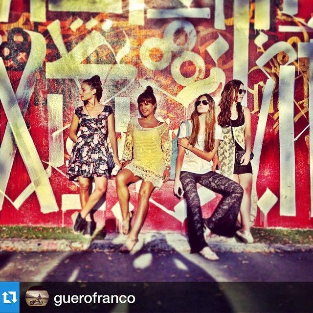 #Repost @guerofranco with the girls !!!marimarvega @zuriavvega @rossananf @macabeso