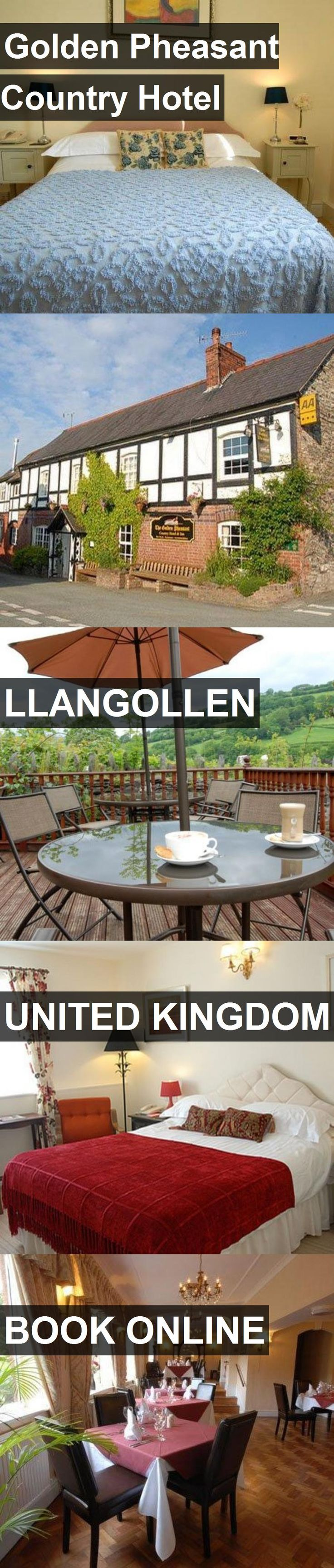 Hotel Golden Pheasant Country Hotel in Llangollen, United Kingdom. For more information, photos, reviews and best prices please follow the link. #UnitedKingdom #Llangollen #hotel #travel #vacation