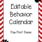 This is a fully-editable, monthly behavior calendar. This was created as a custom order, but if you would like to see a different theme, please em...