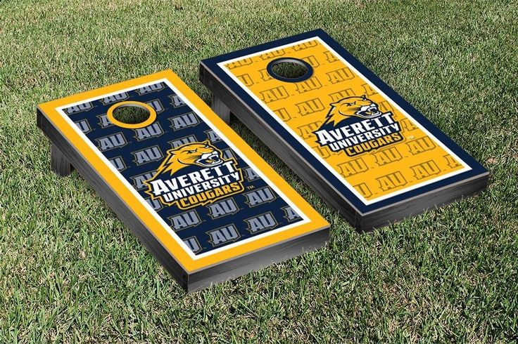 Cornhole Game Set - Averett University Cougars Border Version 2 - 36031