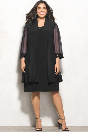 Cardigan and dress baju Wanita Ukuran Besar (Big Size) BSS158