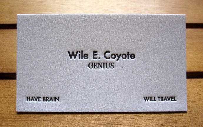 Wile E. Coyote's Calling Card | Artifacts | Pinterest