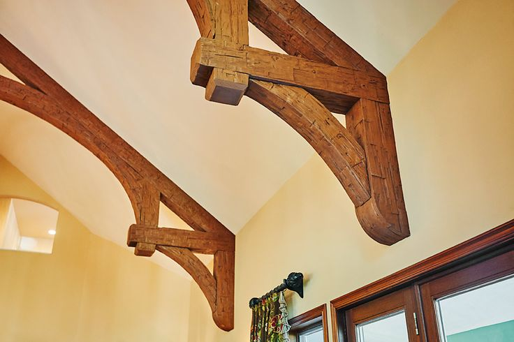 43 best wood co timber trusses and brackets images on for Faux wood trusses