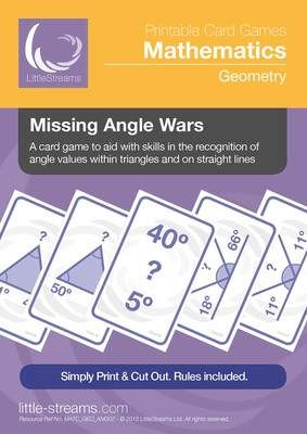 Missing Angle Wars | Card Game for the learning of angles that add to 180 from LittleStreams on TeachersNotebook.com -  (13 pages)  - This is a great little card game for helping players grasp the idea that angles in a triangle and on a straight line all add up to 180 degrees.