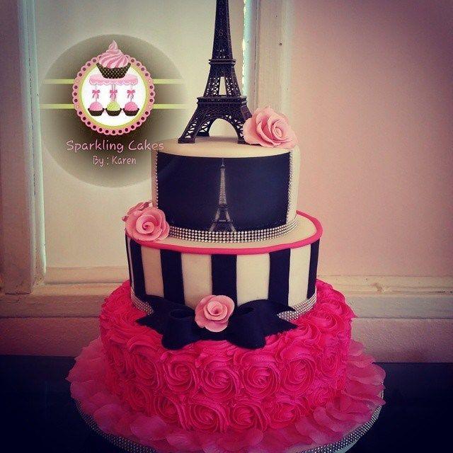 Paris themed Quince cakes!: http://www.quinceanera.com/food/paris-themed-quince-cakes-love-first-bite/?utm_source=pinterest&utm_medium=article&utm_campaign=021715-paris-themed-quince-cakes-love-first-bite