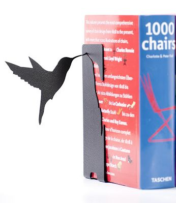 Floating Hummingbird Bookend from The Literary Gift Company