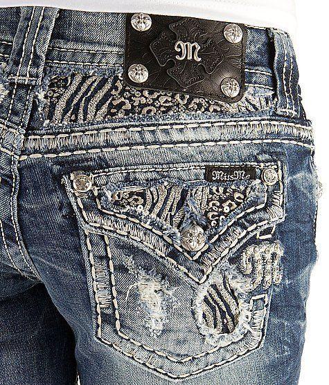 MISS ME JEANS SALE Zebra Blowout Flap Pocket Cropped Capri Crop Stretch Jean 27 #MissMe #CapriCropped