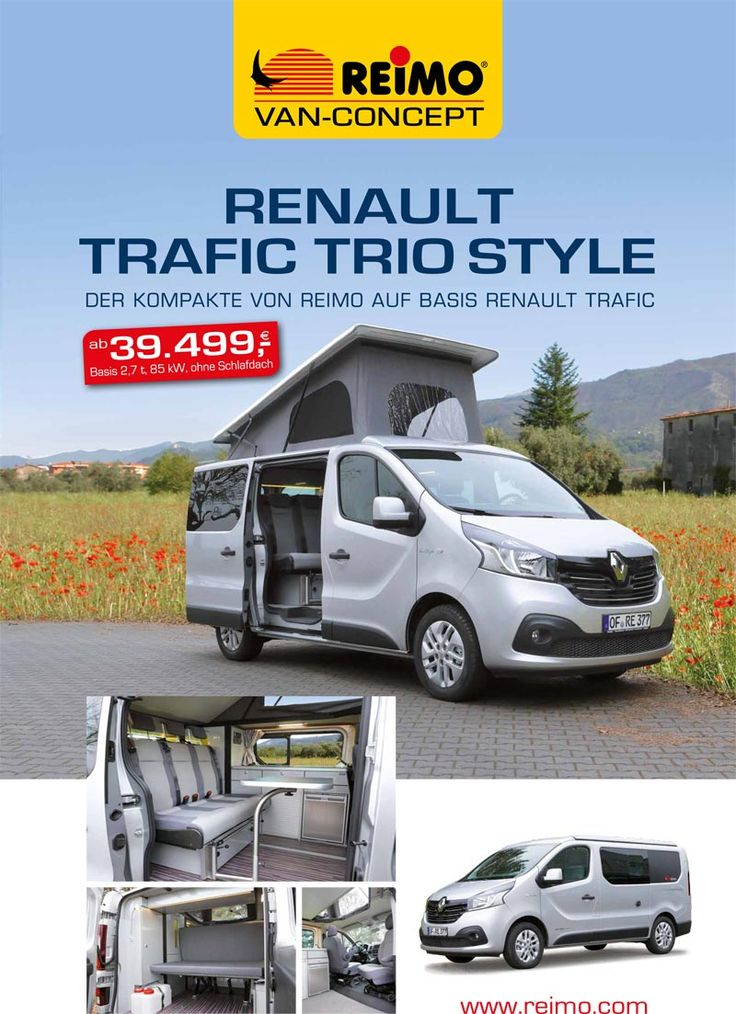 campingbus reimo triostyle auf basis renault trafic. Black Bedroom Furniture Sets. Home Design Ideas