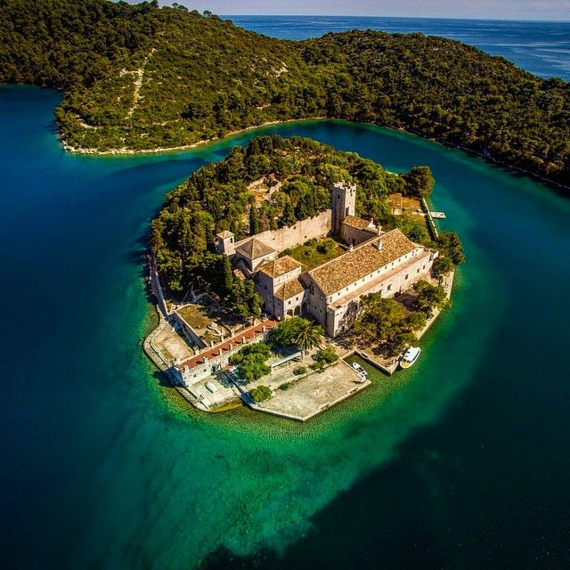 An island, inside a lake, on an island. #sailcroatia # ...