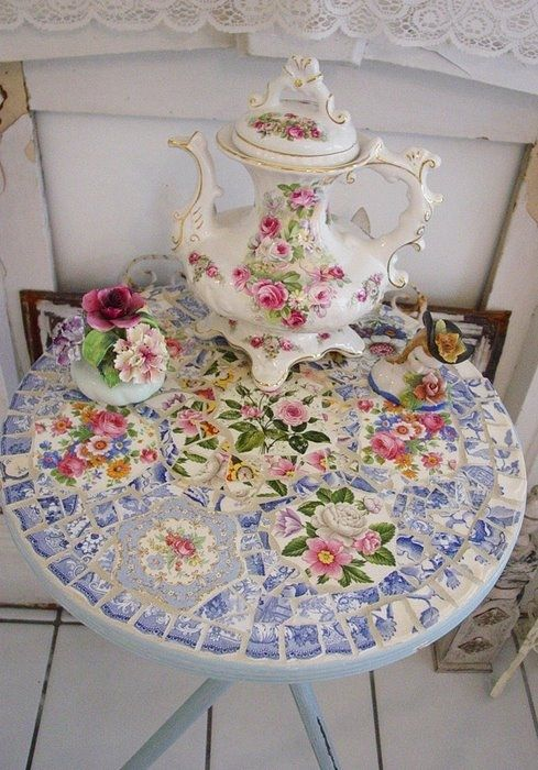 Always wanted to try this. Recycling art: Mosaic Roses ~ make handmade - handmade - handicraft