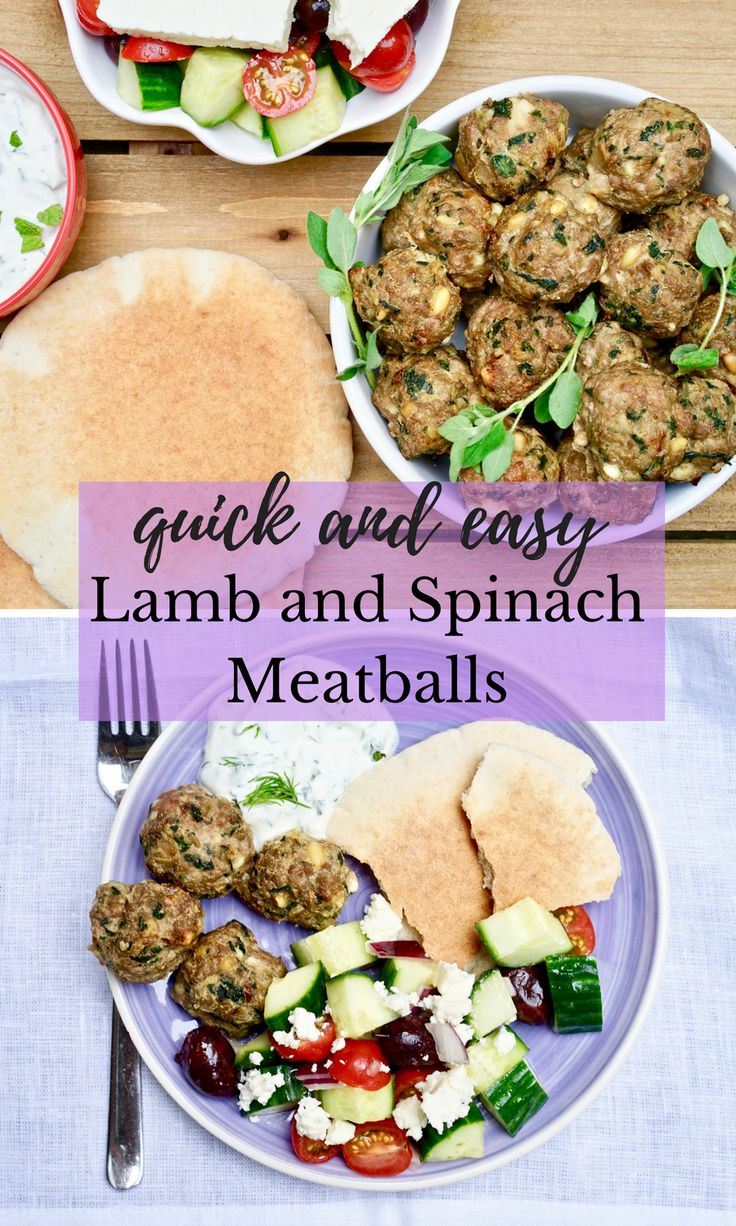 Quick and Easy Lamb and Spinach Meatballs