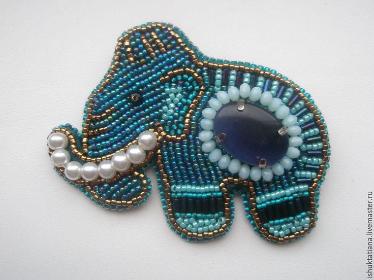Купить Брошь Мамонт Слон - брошь, брошь мамонт, мамонт брошь, слон